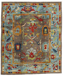 カザック 絨毯 244X290 オリエンタル 手織り 茶/薄い灰色 (ウール, アフガニスタン)