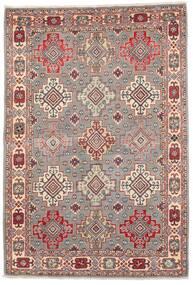 カザック 絨毯 121X177 オリエンタル 手織り 薄い灰色/深紅色の (ウール, アフガニスタン)