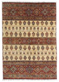 Shabargan 絨毯 170X240 モダン 手織り 濃い茶色/薄茶色 (ウール, アフガニスタン)