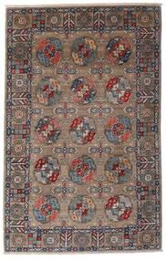 カザック 絨毯 115X182 オリエンタル 手織り 薄い灰色/濃い茶色 (ウール, アフガニスタン)