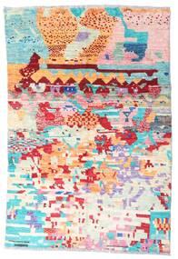 Moroccan Berber - Afghanistan 絨毯 119X177 モダン 手織り ベージュ/ライトピンク (ウール, アフガニスタン)