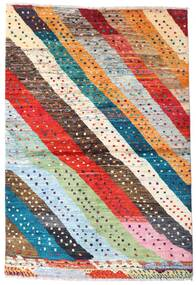 Moroccan Berber - Afghanistan 絨毯 141X208 モダン 手織り 濃いグレー/オレンジ (ウール, アフガニスタン)