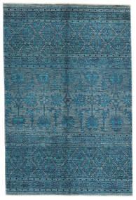 Mirage 絨毯 125X188 モダン 手織り 紺色の/青 (ウール, アフガニスタン)