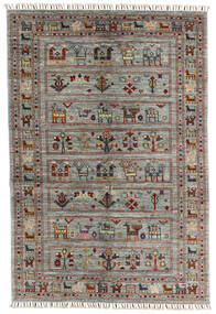 Shabargan 絨毯 129X185 モダン 手織り 濃いグレー/薄い灰色 (ウール, アフガニスタン)