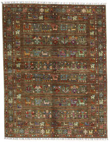 Shabargan .L 絨毯 156X201 モダン 手織り 濃い茶色/茶 (ウール, アフガニスタン)