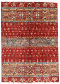 Shabargan 絨毯 168X240 モダン 手織り 深紅色の/錆色 (ウール, アフガニスタン)