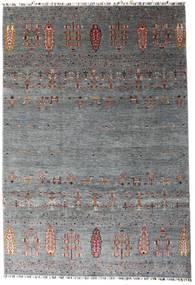Shabargan 絨毯 207X303 モダン 手織り 濃いグレー/青 (ウール, アフガニスタン)