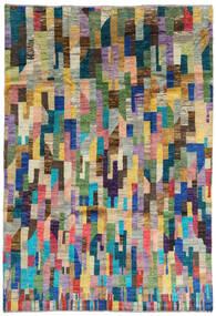 Moroccan Berber - Afghanistan 絨毯 192X281 モダン 手織り 青/濃いグレー (ウール, アフガニスタン)