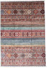 Shabargan 絨毯 204X297 モダン 手織り 濃い茶色/薄紫色 (ウール, アフガニスタン)