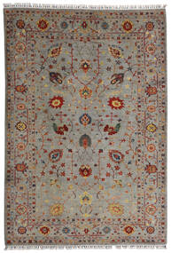 Shabargan 絨毯 208X304 モダン 手織り 薄い灰色/薄茶色 (ウール, アフガニスタン)