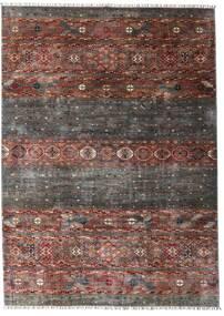 Shabargan 絨毯 208X292 モダン 手織り 濃いグレー/濃い茶色 (ウール, アフガニスタン)