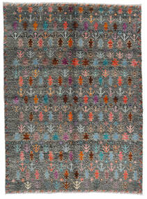 Moroccan Berber - Afghanistan 絨毯 170X240 モダン 手織り 濃いグレー/薄い灰色 (ウール, アフガニスタン)