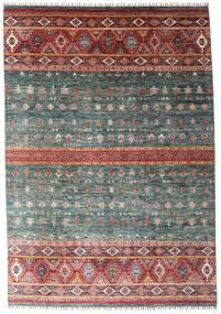 Shabargan 絨毯 214X306 モダン 手織り 濃いグレー/深紅色の (ウール, アフガニスタン)