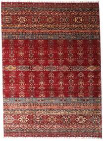 Shabargan 絨毯 213X293 モダン 手織り 深紅色の (ウール, アフガニスタン)