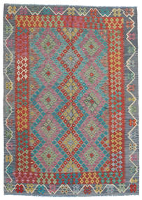 キリム モダン 絨毯 177X246 モダン 手織り 濃いグレー/薄い灰色 (ウール, アフガニスタン)