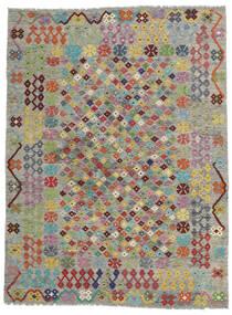 キリム モダン 絨毯 171X227 モダン 手織り 薄い灰色/濃いグレー (ウール, アフガニスタン)