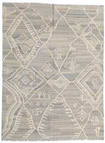 キリム モダン 絨毯 180X235 モダン 手織り 薄い灰色/暗めのベージュ色の (ウール, アフガニスタン)