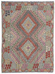 キリム モダン 絨毯 174X233 モダン 手織り 薄い灰色/濃いグレー (ウール, アフガニスタン)