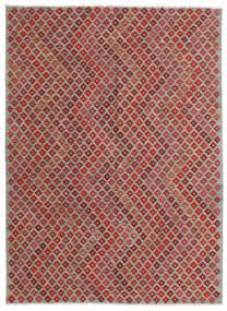 キリム モダン 絨毯 182X248 モダン 手織り 深紅色の/薄い灰色 (ウール, アフガニスタン)