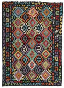 キリム モダン 絨毯 169X236 モダン 手織り 黒/濃いグレー (ウール, アフガニスタン)
