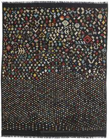 キリム モダン 絨毯 181X228 モダン 手織り 黒/濃いグレー (ウール, アフガニスタン)