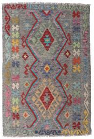 キリム アフガン オールド スタイル 絨毯 98X148 オリエンタル 手織り 薄い灰色/濃いグレー (ウール, アフガニスタン)