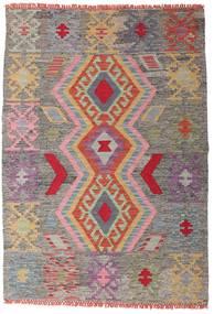 キリム アフガン オールド スタイル 絨毯 102X147 オリエンタル 手織り 薄い灰色/濃いグレー (ウール, アフガニスタン)