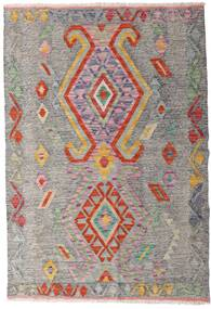 キリム アフガン オールド スタイル 絨毯 101X148 オリエンタル 手織り 薄い灰色/薄茶色 (ウール, アフガニスタン)