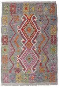 キリム アフガン オールド スタイル 絨毯 100X146 オリエンタル 手織り 薄い灰色/濃いグレー (ウール, アフガニスタン)