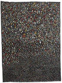キリム モダン 絨毯 214X288 モダン 手織り 黒 (ウール, アフガニスタン)