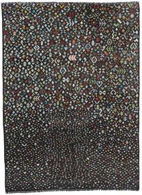 キリム モダン 絨毯 211X285 モダン 手織り 黒/濃いグレー (ウール, アフガニスタン)