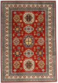カザック 絨毯 201X293 オリエンタル 手織り 深紅色の/濃いグレー (ウール, アフガニスタン)
