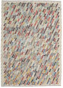 キリム アフガン オールド スタイル 絨毯 207X287 オリエンタル 手織り 薄い灰色/薄茶色 (ウール, アフガニスタン)