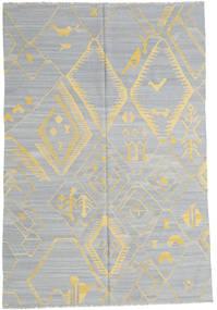 キリム モダン 絨毯 199X292 モダン 手織り 薄い灰色/暗めのベージュ色の (ウール, アフガニスタン)