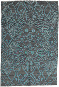 キリム モダン 絨毯 197X291 モダン 手織り 水色/青 (ウール, アフガニスタン)