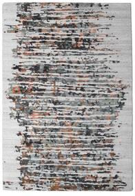Damask Collection 絨毯 159X230 モダン 手織り 薄い灰色/濃い茶色 ( インド)