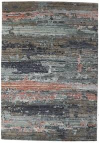 Damask Collection 絨毯 164X237 モダン 手織り 濃いグレー/薄い灰色 ( インド)