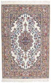 イスファハン 絹の縦糸 署名 Intashari 絨毯 109X166 オリエンタル 手織り 薄い灰色/ホワイト/クリーム色 (ウール/絹, ペルシャ/イラン)