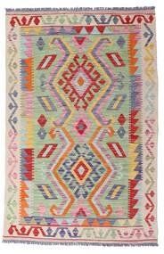キリム モダン 絨毯 99X151 モダン 手織り 薄い灰色/暗めのベージュ色の (ウール, アフガニスタン)