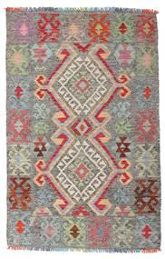 キリム アフガン オールド スタイル 絨毯 98X152 オリエンタル 手織り 薄い灰色/濃いグレー (ウール, アフガニスタン)