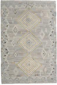 キリム モダン 絨毯 202X297 モダン 手織り 薄い灰色 (ウール, アフガニスタン)