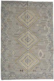 キリム Ariana 絨毯 202X302 モダン 手織り 薄い灰色/濃いグレー (ウール, アフガニスタン)