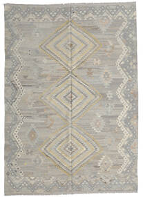キリム Ariana 絨毯 210X291 モダン 手織り 薄い灰色 (ウール, アフガニスタン)
