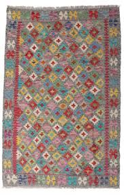 キリム アフガン オールド スタイル 絨毯 96X149 オリエンタル 手織り 薄茶色/薄い灰色 (ウール, アフガニスタン)