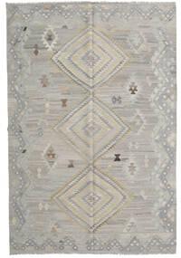 キリム モダン 絨毯 202X301 モダン 手織り 薄い灰色 (ウール, アフガニスタン)