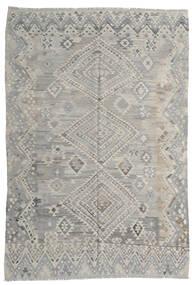 キリム モダン 絨毯 212X295 モダン 手織り 薄い灰色 (ウール, アフガニスタン)