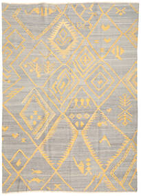 キリム Ariana 絨毯 208X287 モダン 手織り 薄い灰色/ベージュ (ウール, アフガニスタン)