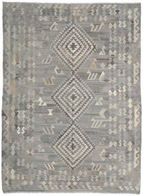キリム Ariana 絨毯 216X285 モダン 手織り 薄い灰色/濃いグレー (ウール, アフガニスタン)