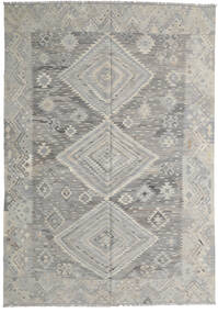 キリム モダン 絨毯 210X299 モダン 手織り 薄い灰色 (ウール, アフガニスタン)