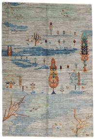 Mirage 絨毯 158X231 モダン 手織り 薄い灰色/濃いグレー (ウール, アフガニスタン)
